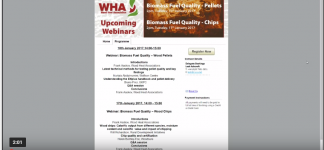 WEBINAR: Biomass fuel quality - Wood pellets
