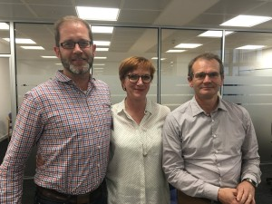 Congratulations to  Neil Harrison, the new chair (left) &  Julian Morgan Jones now Deputy Chair. Here with REA CEO Nina Skorupska the first WHA board meeting.